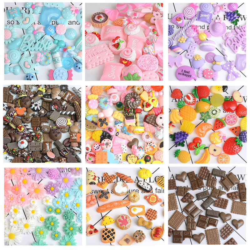 Charms For Slime 100 Pieces Cute Fruit Beads To Put In Slime For