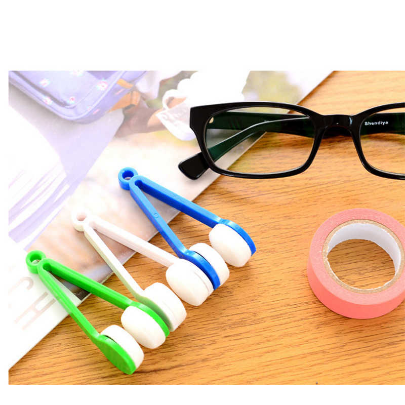 2018 colorful Mini Sun Glasses Eyeglass Microfiber Spectacles Cleaner Soft Brush Cleaning Tool Wiper Wipe Kit