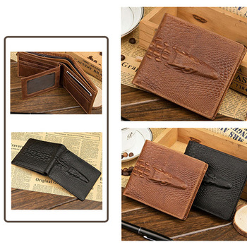 1Pcs Purse Hidden pocket Clutch Leather Crocodile Wallet Crocodile Men wallet Skin wallet Кошелёк