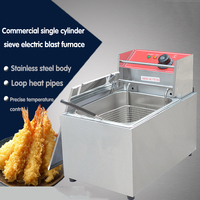 1 PC FY 88 Commercial electric stainless steel high power fryer for Fried chicken,French fries,churros,ect