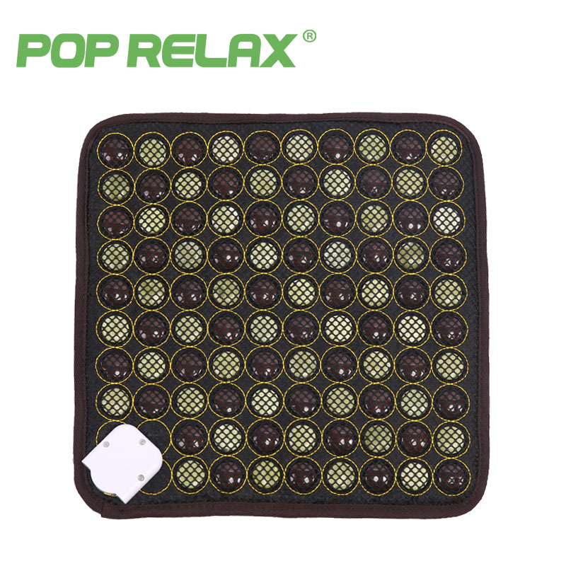 POP RELAX Korea health seat mattress jade tourmaline germanium electric heating pad knee pain relief thermal stone mat mattress pop relax tourmaline health products prostate massager for men pain relief 3 balls germanium stone far infrared therapy heater