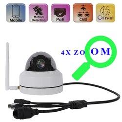 1080P mini kamera wi-fi kamera kopułkowa PTZ zewnętrzna obsługa podczerwieni H.264 H.165 2.8-12mm obiektyw kamera IP wodoodporna kamera PTZ