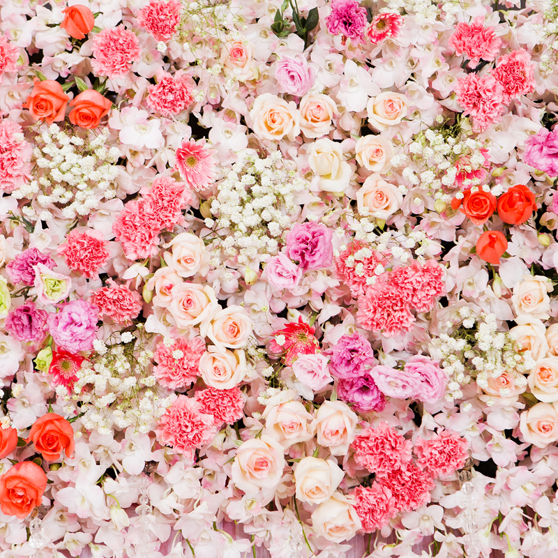 HUAYI Art Fabric Floral Flowers Bed Photography Backdrop
