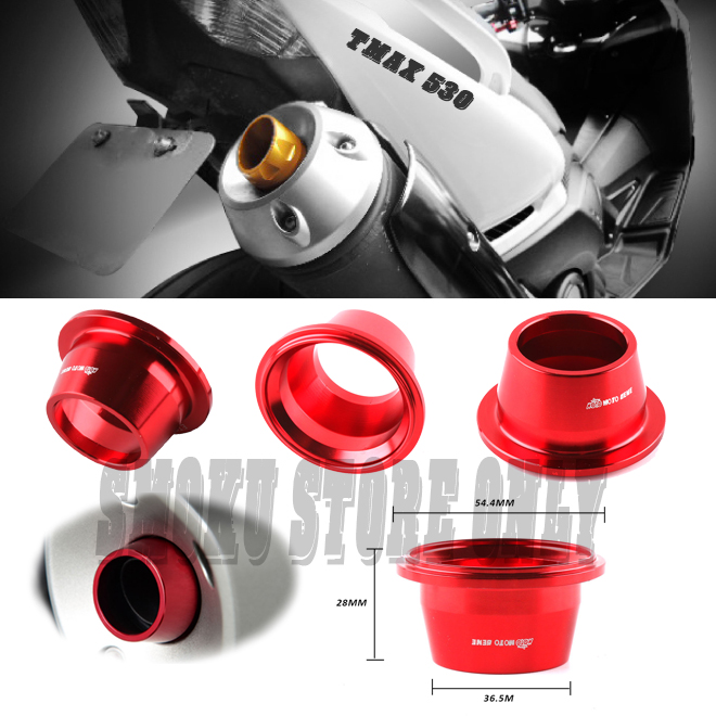Motorcycle Scooter Accessories CNC Aluminum Alloy Exhaust Muffler End Tip Cover For Yamaha T-MAX T MAX TMAX 530 2017