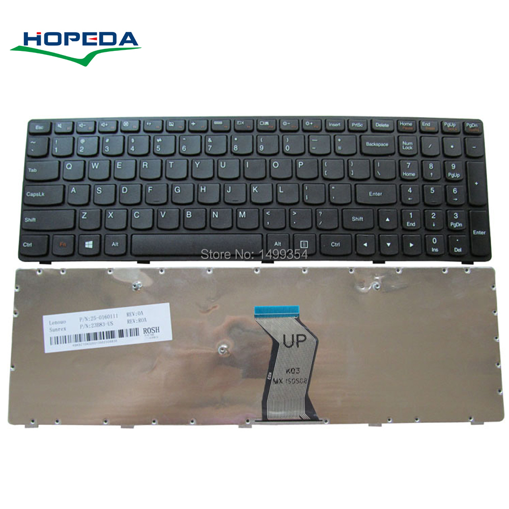 New Laptop Keyboard For Lenovo G500 G700 G505 G510 G710 Keyboard Black Frame Replacement image