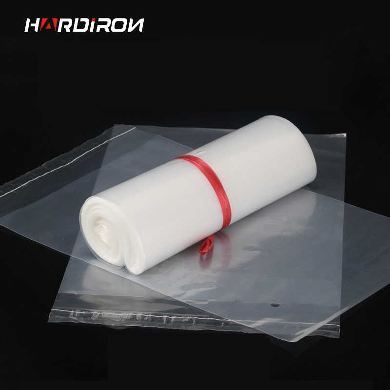 0.1mm New Environmentally Friendly Package Materials Clothing Bag Soft PE Self-adhesive Pouch Strong Tough Plastic Material bag