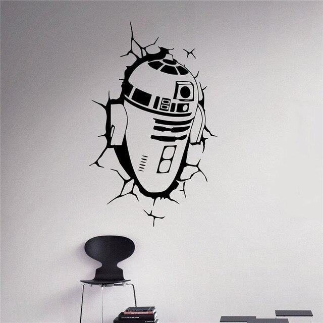 star wars wall decal r2 d2 wall vinyl sticker robot droid home