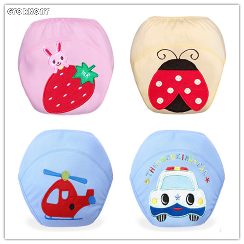 Baby Diapers Nappies Training-Pants Washable Cotton Cute 1pcs ZJ-A398E