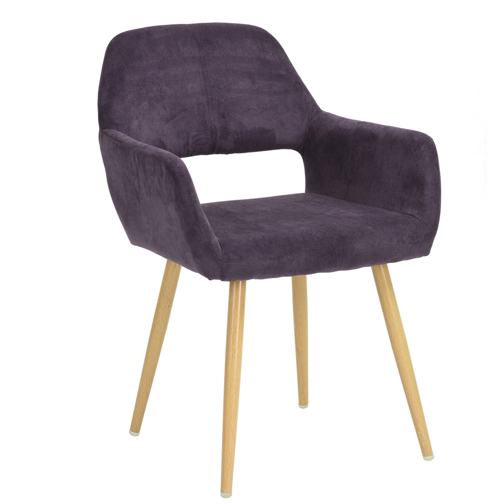 Lounge Chair With Open Back, EGGREE Modern Scandinavian Design Lounge Chair Waiting Room, Purple madrid lounge chair