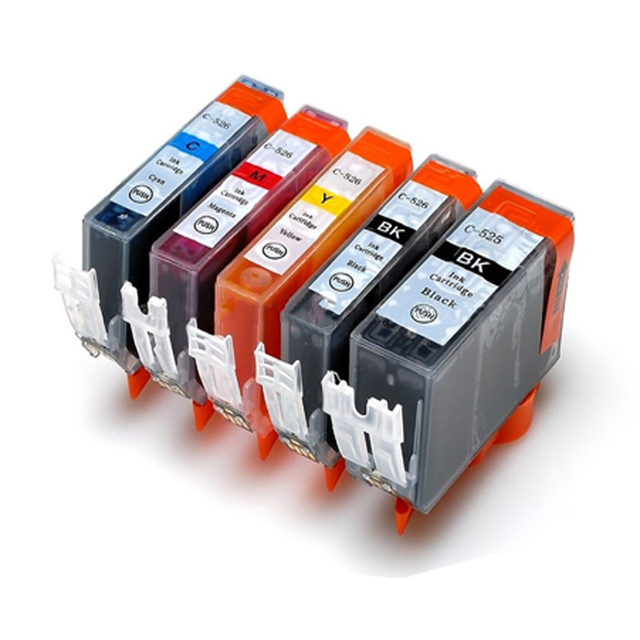 For Canon PGI 525 CLI 526 Ink Cartridge For Canon PIXMA iP4850 iP4950 MG5150 MG5250 MG6150 MG8150 MX885 MG5350 pgi-525 cli-526
