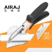 AIRAJ 45 zu 135 Grad Winkel Scher, PVC PE PPR Kunststoff Abgeschrägte Hand Schere, neue/Alte Nicht-multifunktionale Gehrung Cutter Werkzeug