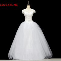 Custom Size Romantic Lace Wedding Dress New Arrive Floor Length Fashionable Bride Gowns Cheap Bridal Dresses