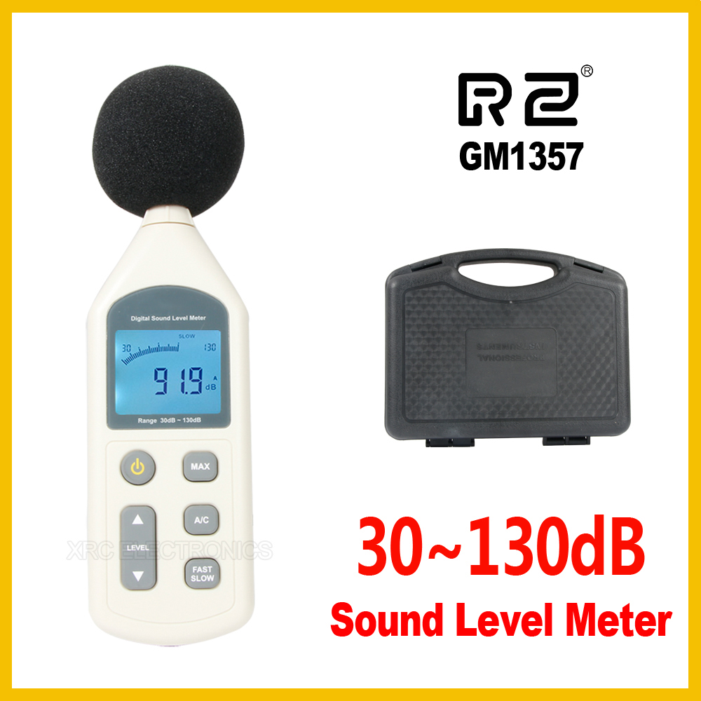 Handy Digital Sound Level Meter Noise Meter Sound Level Meter Noise Measuring Instrument LCD A/C FAST/SLOW DB 30-130dB GM1357