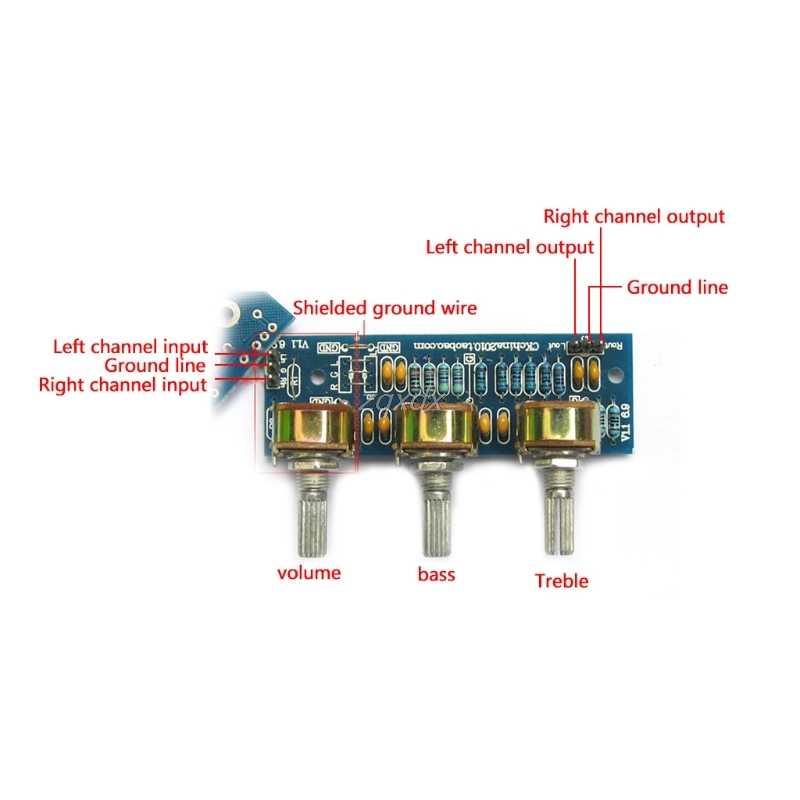 Diy なし電気とパッシブフロントプレートフロントボードサウンドパレット PCB ボードキット集積回路ドロップシップ