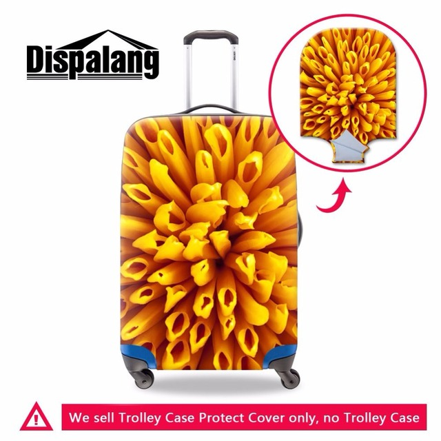 Dispalang womens travel on road luggage cover floral pattern elastic waterproof cover for trolley suitcase travel accessories
