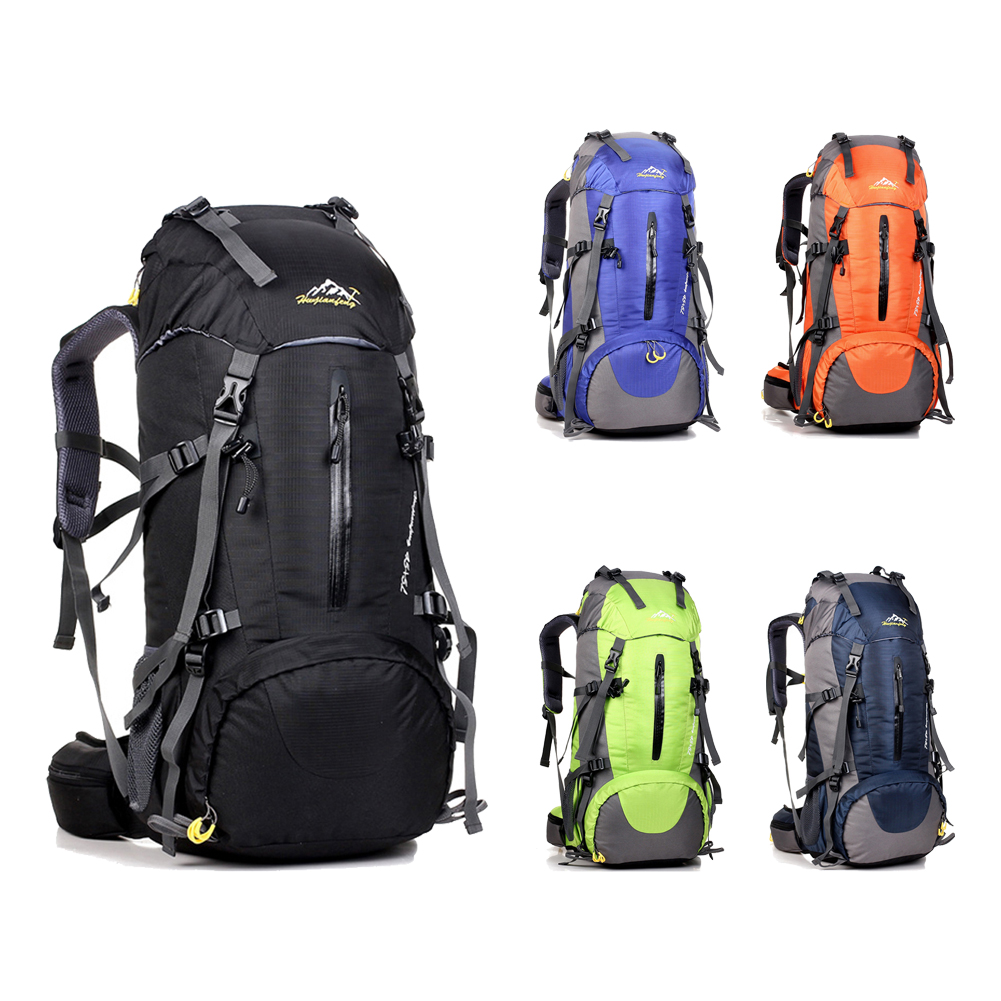 цена на 50L Large Waterproof Travel Bags Rucksack Nylon Outdoor Camping Hiking Bicycle Sports Backpacks Bag Men Women Climbing Backpack