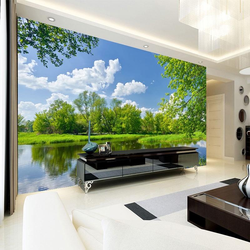 beibehang Chinese-style Landscape Wallpaper For Elder's Room Home Improvement Sofa/TV Background Wall Custom 3d Wallpaper Mural Home Improvement