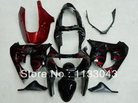 Fairings 100%New red FLAME Body for KAWASAKI Ninja ZX 6R 98 99 ZX 6R 1998 1999 fairings ZX6R 98 99 ZX 6R 1998 1999 Fairing kits