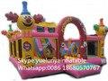Direto da fábrica castelo inflável combinação de slides grandes obstáculos slide palhaço castelo KYB-700