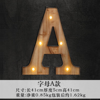 The new LED lighting models Home Furnishing retro mural jewelry ornaments iron letter lamp customized wholesale