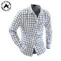 Cuadros Camisa Hombre Camisas De Vestir De Marca Para Hombre Camisa A Cuadros Slim Fit Hombres Camisa Chemise Homme Heren Hemden Camisa Masculina XXL
