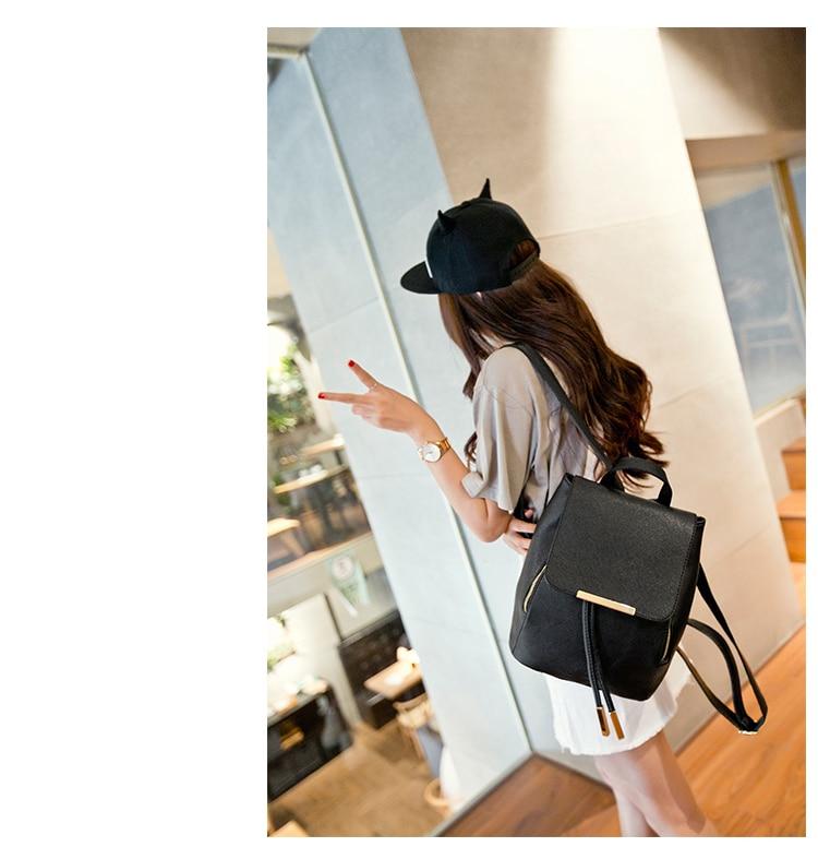 HTB1duFQaHsTMeJjSszgq6ycpFXa0 Backpack Women Leather Backpacks High Quality Pu Bagpack Mochila Feminina Rucksack Female School Bags