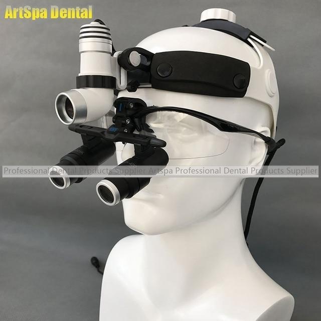 3W LED Surgical Head Light Dental Headlight AC/DC +Kepler Magnifier Dental  Glass Loupes Amazing Ideas