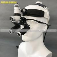 3W LED Surgical Head Light Dental Headlight AC/DC +Kepler Magnifier Dental Glass Loupes (6.5X)