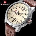 2017 Luxury Brand NAVIFORCE Militares Hombres Deportes Relojes del Cuarzo de Los Hombres Fecha Reloj de Hombre de Pulsera de Cuero Casual Reloj Relogio masculino