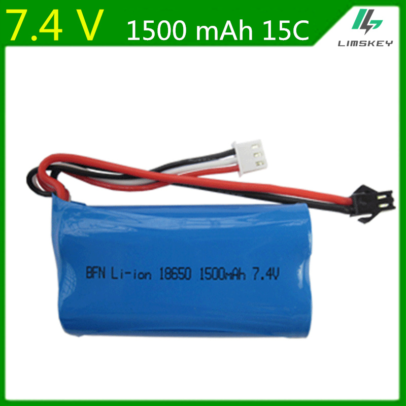 7.4V 1500mAh Battery For Udi S032 Q1 Tianke Battery 18650 7.4 V 1500mah 15C SM Plug 2s Battery