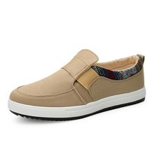 Discount Mens Casual Shoes Canvas Loafers Fashion Sneakers Low-hop 2018 New Walking Breathable Slip-on Non-slip