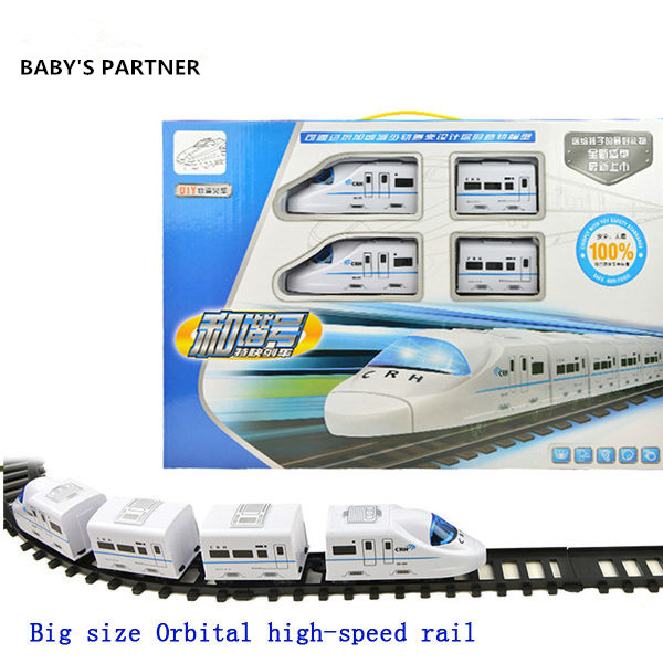 цена на Hot Sale Nice Gift! big Model trains electric track train High Speed Rail train railway railroad tracks Orbital toy Kids Toys