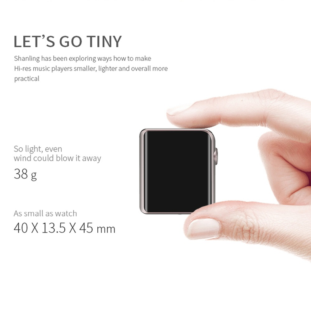 Shanling M0 Bluetooth MP3 Speler Touch Screen Music Player Ondersteuning USB Aduio Micro TF Card Mini Sport Lossless - 4