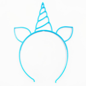 Image 4 - 6pcs Unicorn Party Decoration Unicorn Headband Birthday Party Decorations Kids Baby Shower Kids Favors Festive Party Supplies