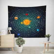 Starry Sky Wall Tapestry Nature Celestial Psychedelic Mandala Sun Universe Carpet Throw Blanket Hanging Mural