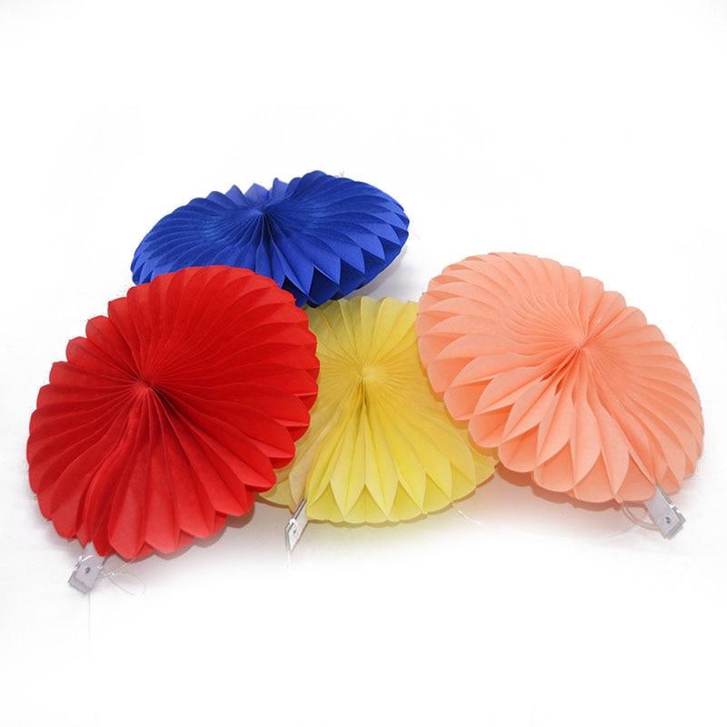 New 5pcs Tissue Paper Fan Diy Crafts Hanging Wedding: 4'' 12'' Paper Fans DIY Hanging Tissue Paper Flower
