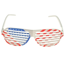 4ee4ef795da American Flag USA Patriotic Design Plastic Shutter Glasses Shades Sunglasses  Eyewear for Party Props(China