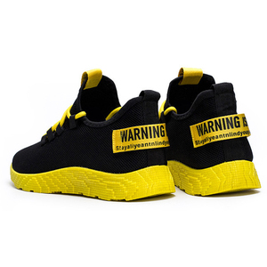 Image 3 - Bomlight 2019 Mesh Sneakers Men Casual Shoes Lace up Men Shoes Male Lightweight Sneakers Yellow Black Red Tenis Masculino Adulto