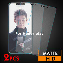 2Pcs/lot Matte Tempered Glass For Huawei Honor Play 10 8x max Screen Protector honor play Frosted Protective