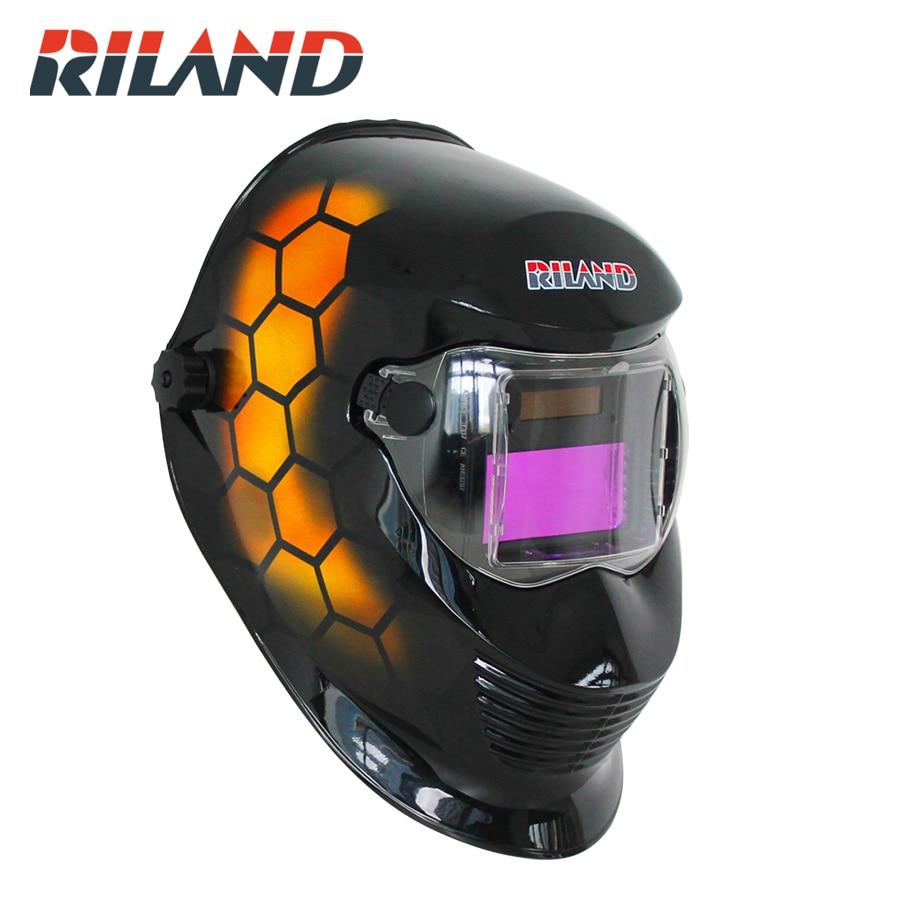 RILAND X902T Welding Helmet Solar Auto Darkening Welding Mask TIG MIG Welder Mask/Helmet For Welding Machines Face Masks