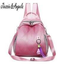 Jiessie&Angela Casual Leather Backpack Women Travel Shoulder Bag Fminina Anti Theft Backpacks Teenage Girls School