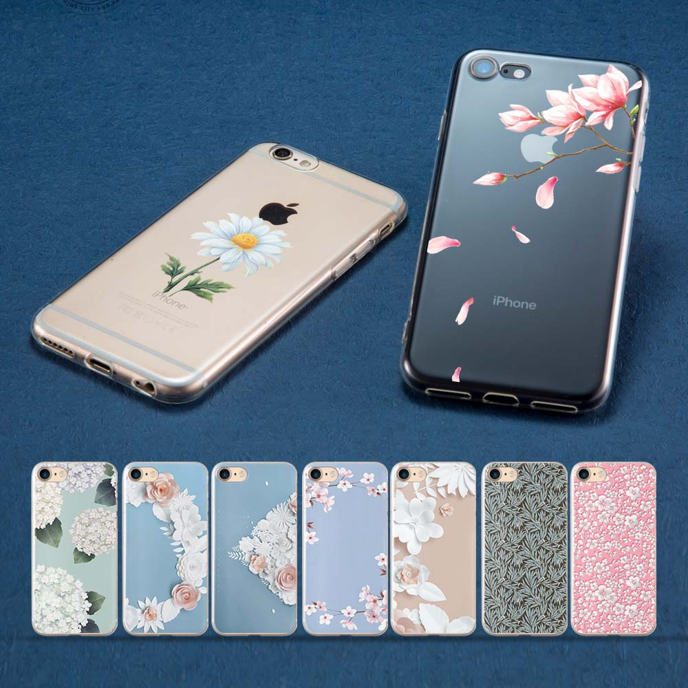 Coque Flower texture for iPhone XS MAX case for Funda iPhone 7 Cases for iPhone XR Case for iPhone 7 8 Plus 5 5S SE XS X Shell in Half wrapped Cases from Cellphones Telecommunications