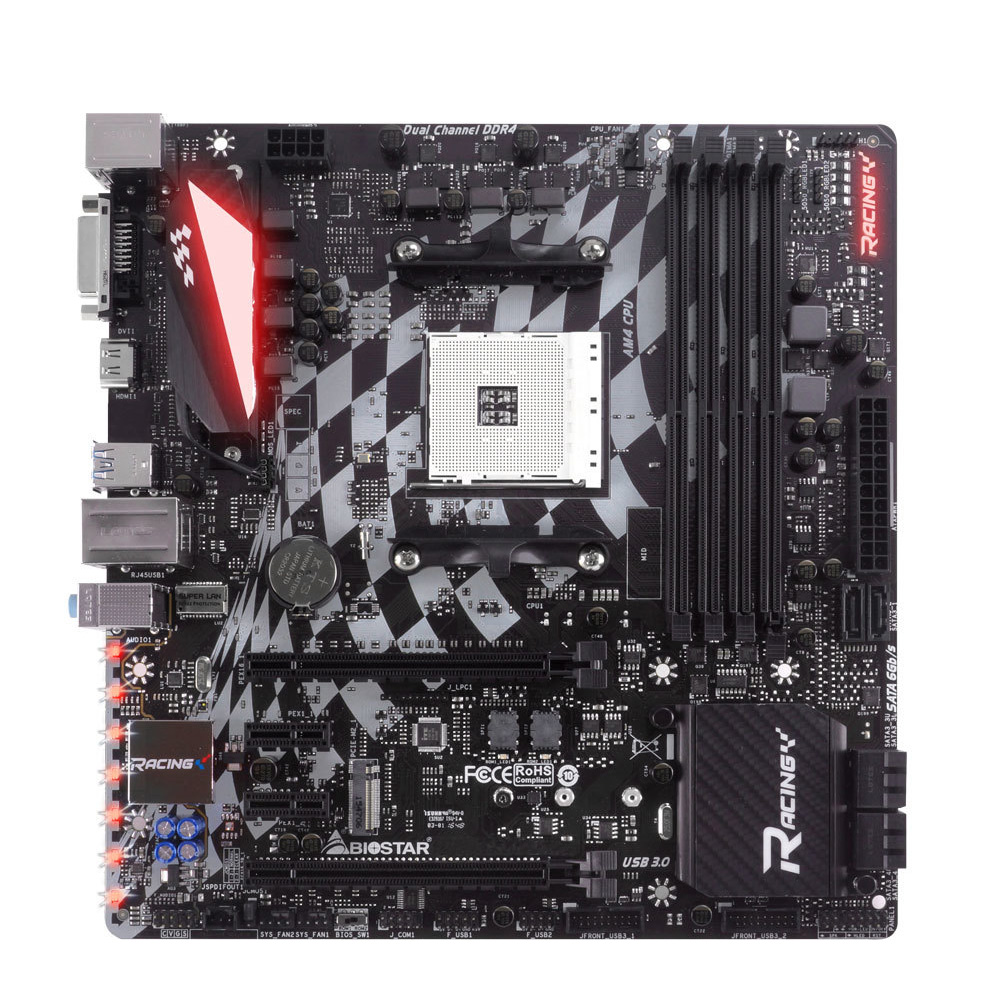 BIOSTAR Motherboard X370GT3 for AMD AM4 M.2/NVME Electric Sports Games Motherboard Support Ryzen 1700X USB 3.0 SATA3 PCI-E 3.0