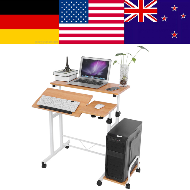 stable height adjustable mobile laptop computer standing desk for