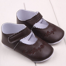 New Kid Girl Pu Leather Princess Crib Shoes Newborn Comfy Outdoor Baby