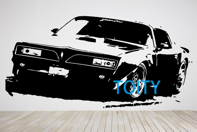 Muscle Car Sticker Wall Room Decor Art Fast Vehicle Vinyl Decal
