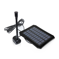 Aquarium Solar Panel Fountain Pump with Battery LED Lamp Water Spray Oxygen Pump for Garden Patio Fish Pond Pool Water Circulate