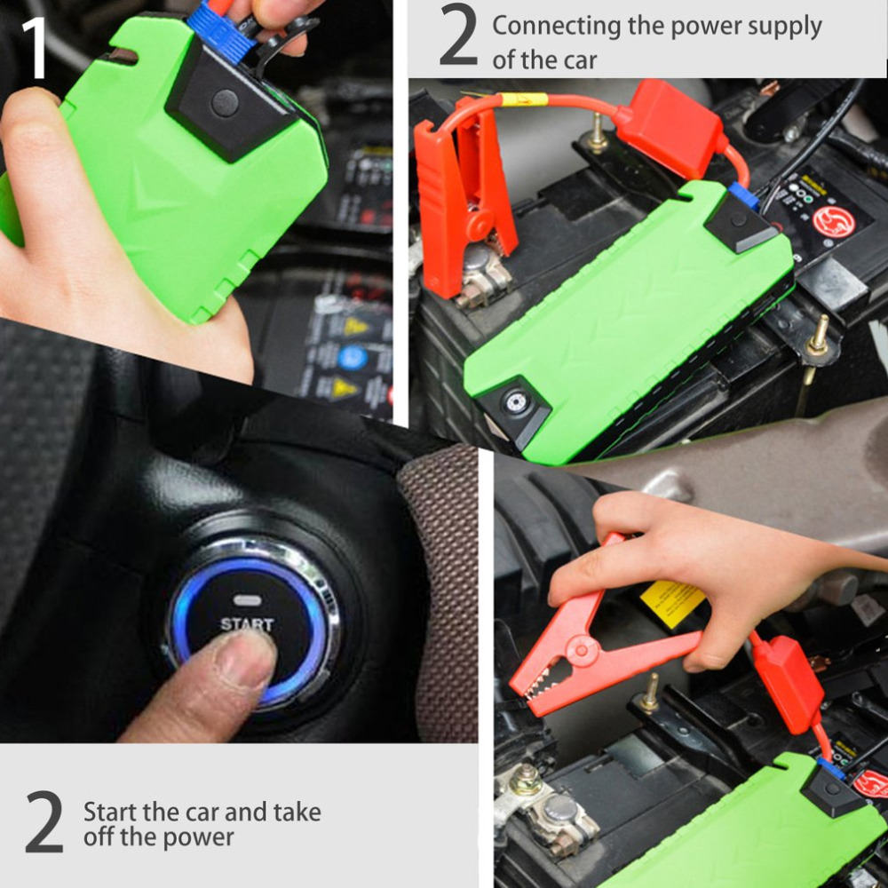 13800mAh Auto Cars Car Jump Starter Capacity Emergency Battery 12V Charger Car Starter Booster Starting Device Power hot practical 89800mah 12v 4usb car battery charger starting car jump starter booster power bank tool kit for auto starting device