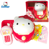 HELLO KITTY toys for girls phone set girl play card sounding toy child pretending to call the educational toy birthday gift