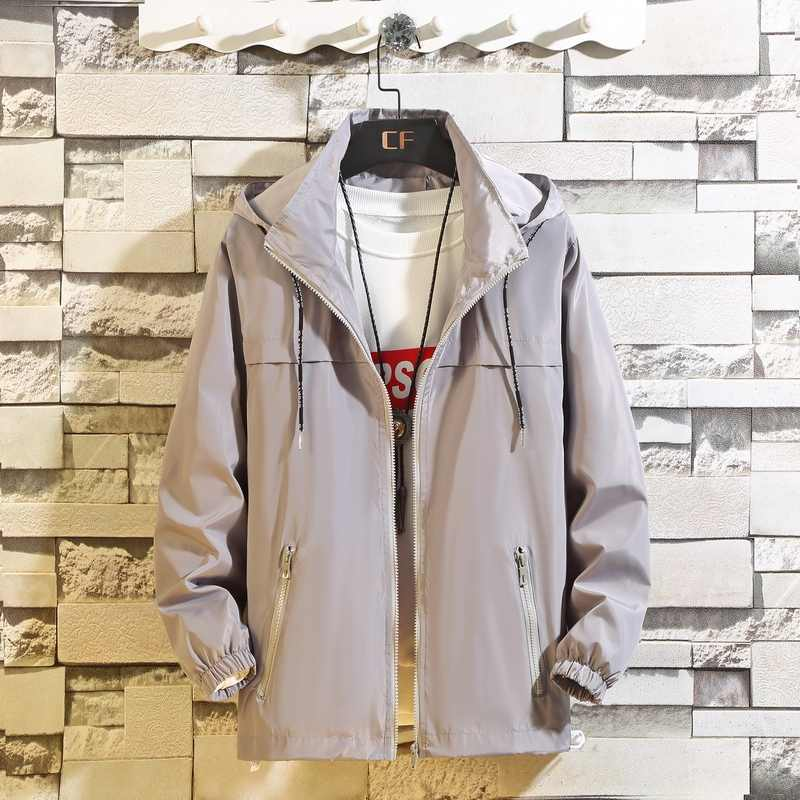 Kuyomens M-8XL Мужская куртка с капюшоном Солнцезащитная Повседневная куртка ветровка Хип Хоп весенняя одежда мужская Veste Homme плюс размер